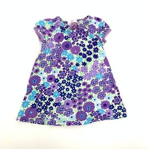 Hanna Andersson 90 3T Purple Floral Tie Dress